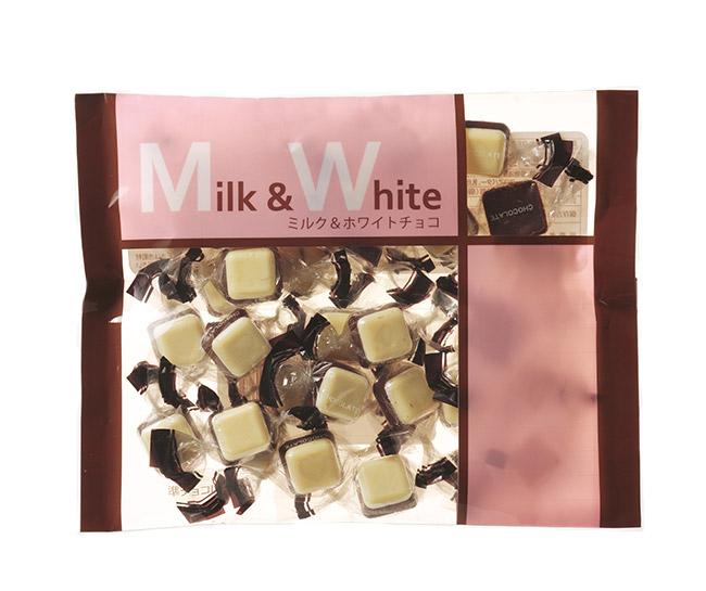 徳用ファミリーサイズ150gミルク&ホワイトチョコレート